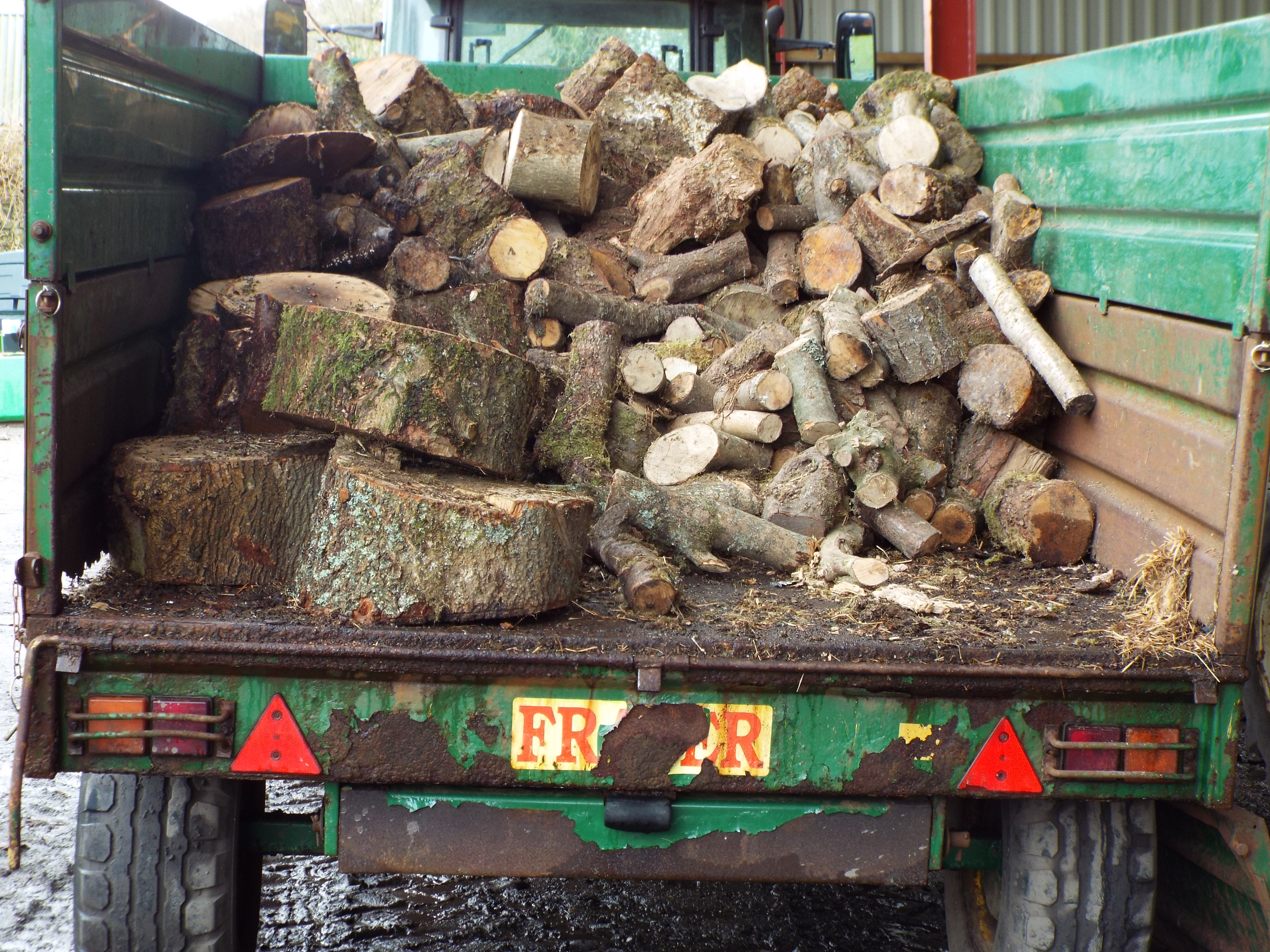 Some logs ready to be split at depot.