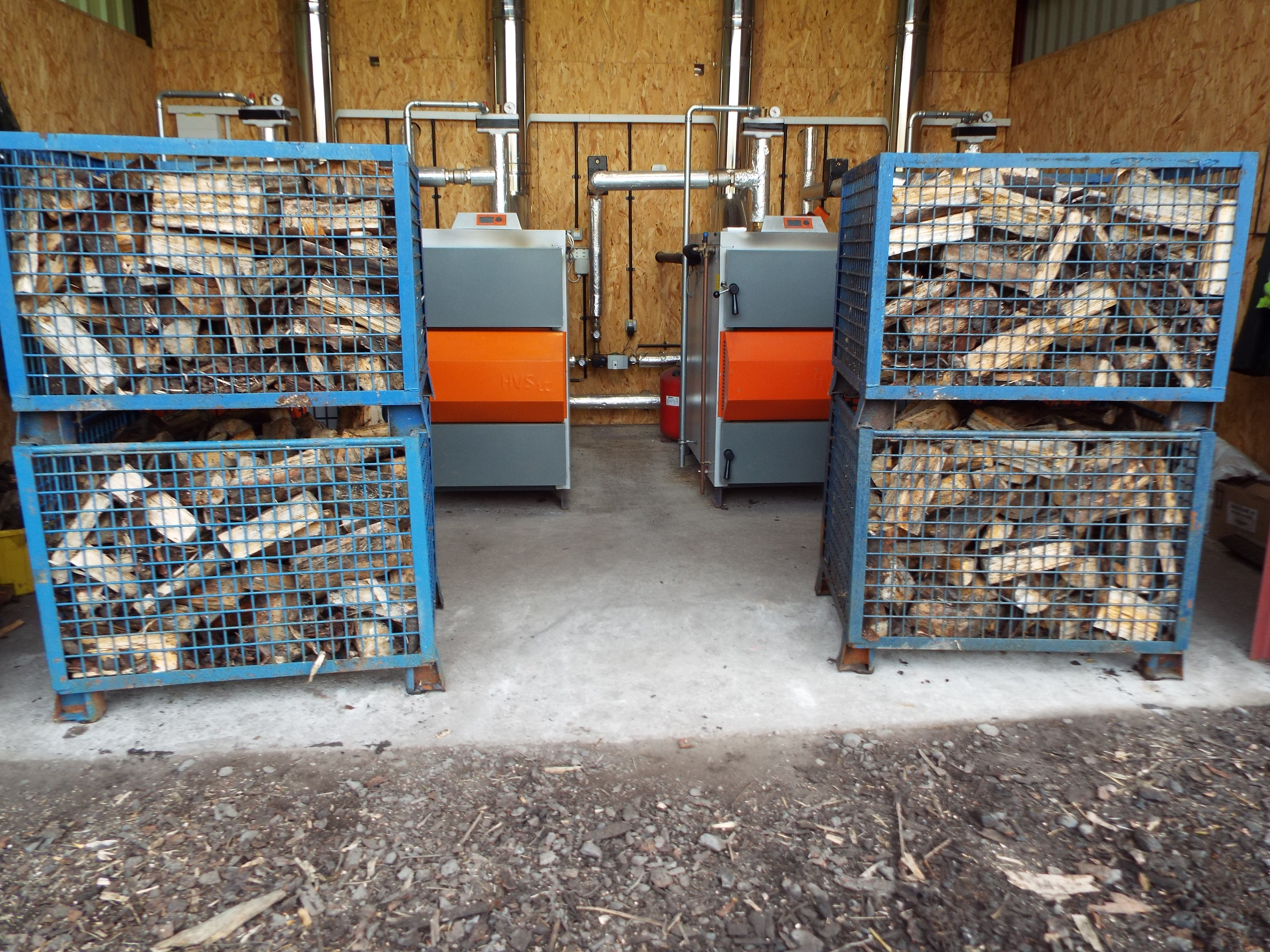 Logs at kilns ready for drying process.